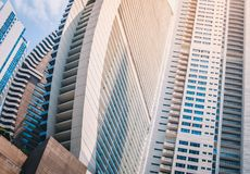Modern architecture concept, skyscraper buildings -  real estate. Exterior  exterior Royalty Free Stock Images