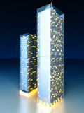 Modern Architecture. A contemporary skyscraper. 3D rendered Illustration Stock Photos
