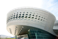 Modern architecture in Dalian China. Modern futuristic building in Dalian China royalty free stock photo