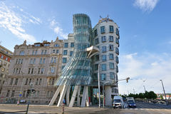 Modern architecture: Dancing House in Prague, Czech Republic, Eu Royalty Free Stock Photography