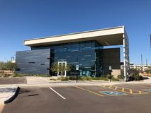 Modern Design of a bank in Gilbert Arizona. Modern Architecture design of bank in Arizona Royalty Free Stock Image