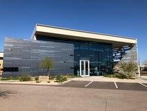 Modern Design of a bank in Gilbert Arizona. Modern Architecture design of bank in Arizona Stock Photos