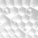 Modern Architecture Design. 3d Rendering of White Cube Background. Modern Architecture Design. Creative Web Wallpaper Royalty Free Stock Photos