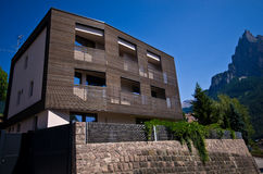 Modern design home in the Alps Royalty Free Stock Images