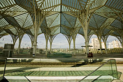 Modern architecture design in a train station, Lisbon Stock Photography