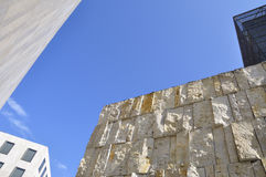 Modern architecture. Detail of the Jewish Synagogue and Jewish Museum in Munich Stock Photography