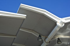 Modern architecture. Detail of modern architecture roof Stock Photography