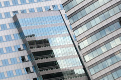 Modern architecture detail, Warsaw, Poland Royalty Free Stock Images