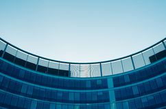 Modern architecture detail, windows, glass walls. Corporate Building in Warsaw Center Royalty Free Stock Image