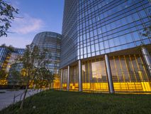 The modern architecture of Devon Energy buildings in Oklahoma City Royalty Free Stock Images