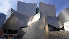Modern architecture of Disney Concert Hall in Los Angeles - CALIFORNIA, USA - MARCH 18, 2019. Modern architecture of Disney Concert Hall in Los Angeles - LOS stock video