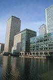 Modern architecture of Docklands skyline Royalty Free Stock Photos