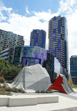 Modern architecture at Docklands in Waterfront City, Melbourne Stock Photos