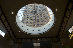 Modern architecture dome ceiling glass stock images