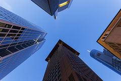 Modern architecture of downtown of Frankfurt Stock Photos