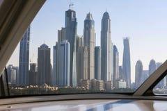 Modern architecture of Dubai stock image