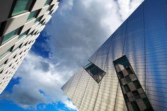 Modern architecture of Dublin Docklands area Royalty Free Stock Photo