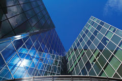 Modern architecture of Dublin Docklands area Stock Photos