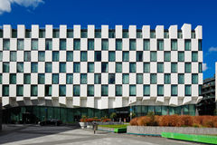 Modern architecture of Dublin Docklands area Stock Photography