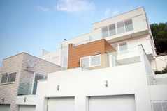 Modern architecture exterior detail, white and clean Royalty Free Stock Photos