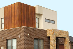 Modern architecture exterior details double story homes Royalty Free Stock Photo