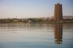 Modern architecture in front of the Niger River in Bamako royalty free stock photos