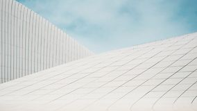Modern architecture, futurism and bionics in architectural forms. White building royalty free stock photo