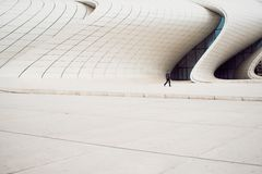 Modern architecture, futurism and bionics in architectural forms. White building stock photo