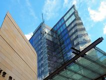 Modern Architecture, Geometric Shapes and Reflections Stock Photography