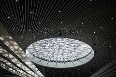 Modern architecture. Glass roof for modern architecture,dome Stock Image