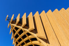 Modern Architecture in Glued Laminated Timber Royalty Free Stock Images
