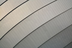 Modern architecture. Grey metal facade royalty free stock images