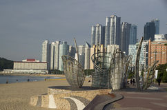 Modern architecture Haeundae beach busan korea Royalty Free Stock Image