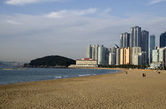 Modern architecture Haeundae beach busan korea Stock Photography