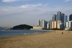 Modern architecture Haeundae beach busan korea Stock Photography