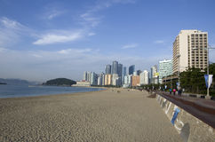 Modern architecture Haeundae beach busan korea Stock Images