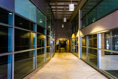 Modern architecture in a hallway in downtown York, Pennsylvania. Royalty Free Stock Photo