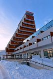 Panorama hotel at Strbske Pleso, High Tatras, Slovakia. Modern architecture in High Tatras, Slovakia stock photography
