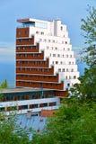 Panorama hotel at Strbske Pleso, High Tatras, Slovakia. Modern architecture in High Tatras, Slovakia royalty free stock photo