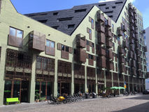 Modern architecture on IJdock district in Amsterdam, Netherlands stock image