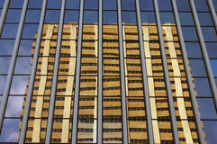 Modern architecture image of financial buildings Royalty Free Stock Photography
