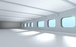 Modern architecture interior. 3d render Stock Photo