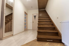 Modern architecture interior with elegant luxury hallway with gl Stock Image