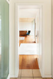 Modern architecture, interior, room view from corridor Stock Image