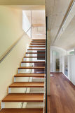 Modern architecture, interior, staircase. Mountain house, modern architecture, interior, staircase Stock Images