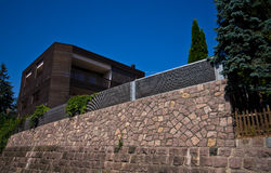 Modern house in Italian Alps Stock Photography