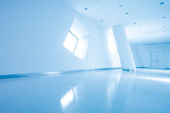 Modern architecture of large business conference center with blue tone. Royalty Free Stock Photo