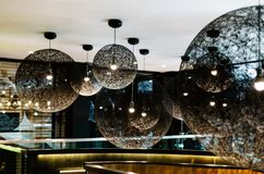 Inside a hotel in Bankside, London stock photo