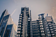 Modern architecture London England. In financial area Stock Photos