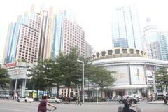 Modern architecture in Luohu, Shenzhen Royalty Free Stock Photo